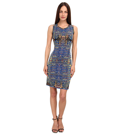 M Missoni - Digital Batik Jacquard Dress (Cobalt/Cobalt/Academy) Women's Dress
