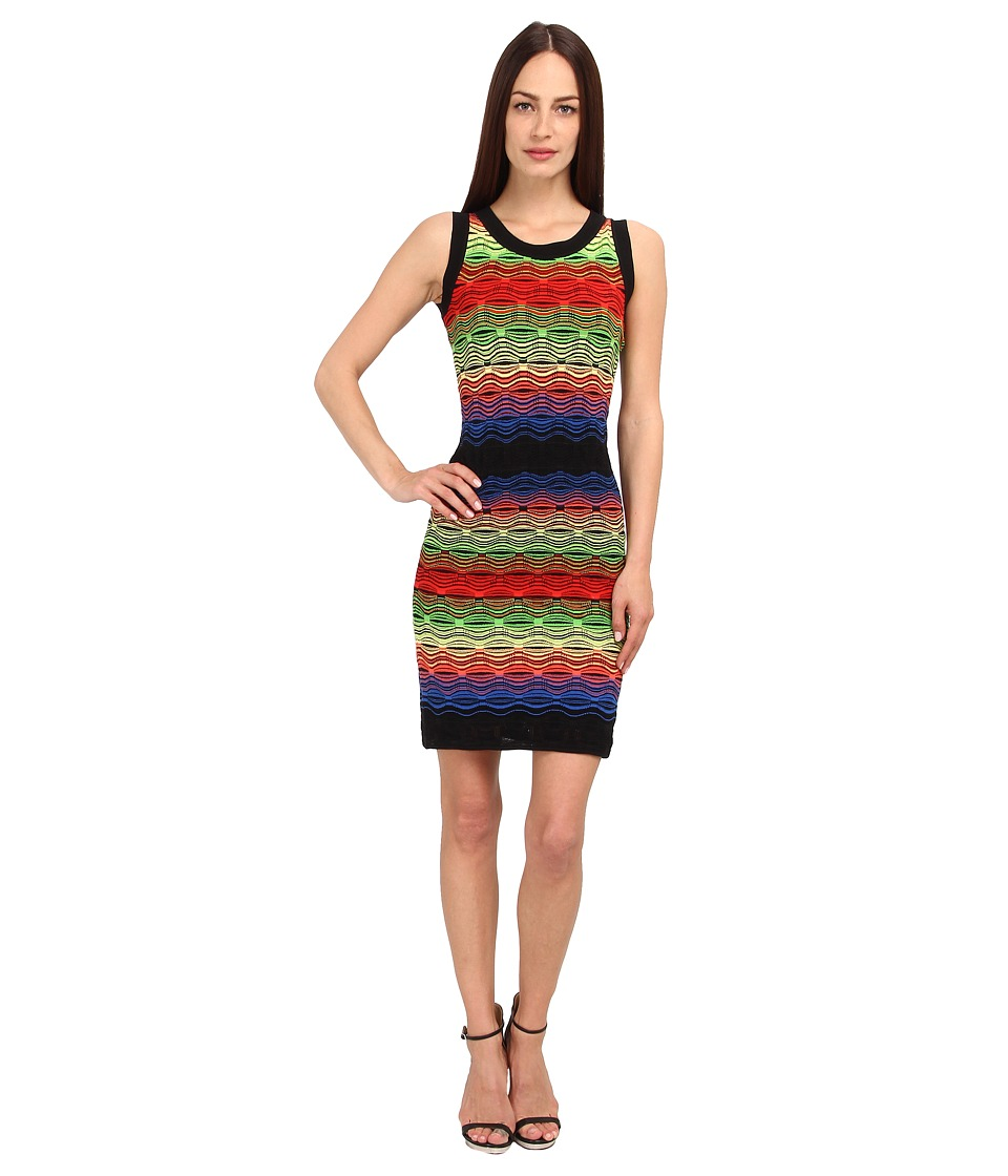 M Missoni - Color Block Ripple Stitch Tank Dress (Cobalt/Cobalt/Academy) Women's Dress