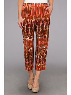 SALE! $119.99 - Save $108 on BCBGMAXAZRIA Beck The Cropped Pant (Saffron Combo) Apparel - 47.37% OFF $228.00