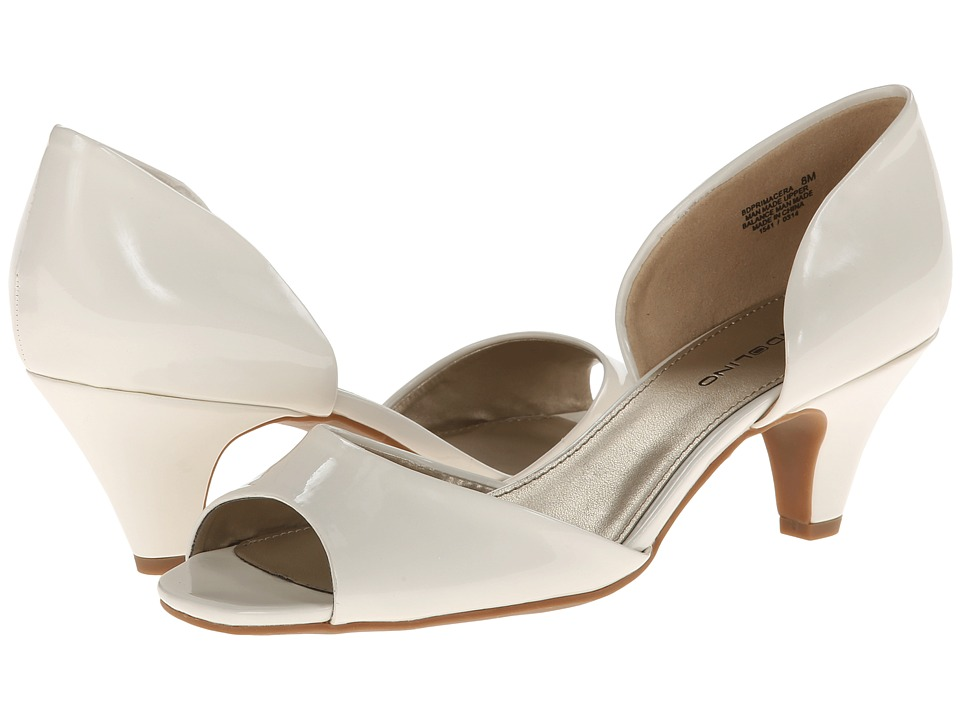 Bandolino - Primacera (White Synthetic) Women's 1-2 inch heel Shoes