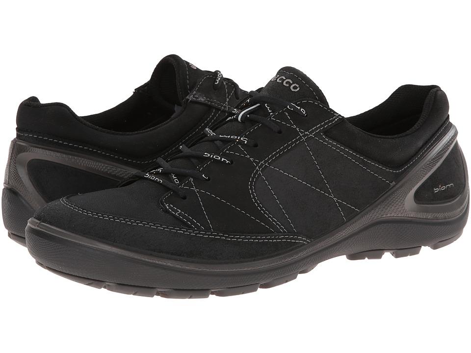Ecco Performance - Biom Grip Tie (Black/Black Oil Suede/Bedouin) Men's Shoes