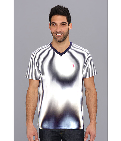 U.S. POLO ASSN. - Mini Stripe V-Neck-2N (Classic Navy) Men