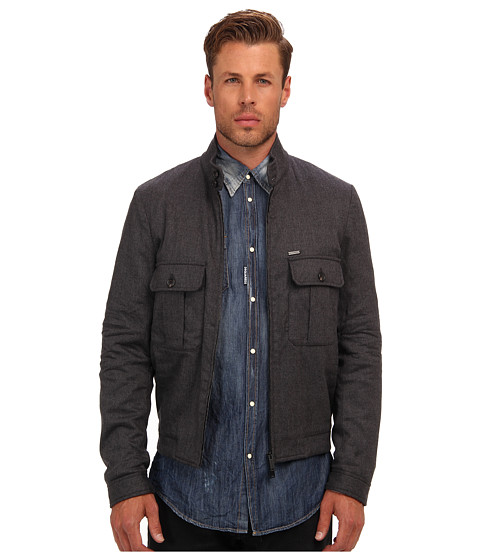 DSQUARED2 - Stretch Wool Flannel Jacket (Grey) Men's Coat