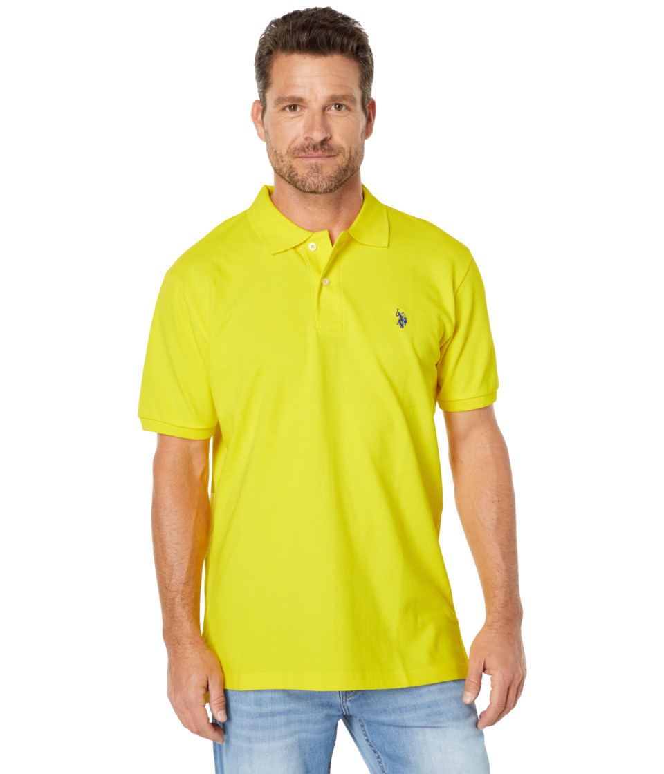 U.S. POLO ASSN. - Solid Polo with Small Pony (Laser Yellow) Men