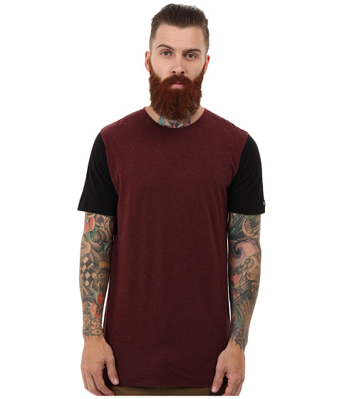 Zanerobe - Color Block Flintlock Tee (Burgundy) Men's T Shirt