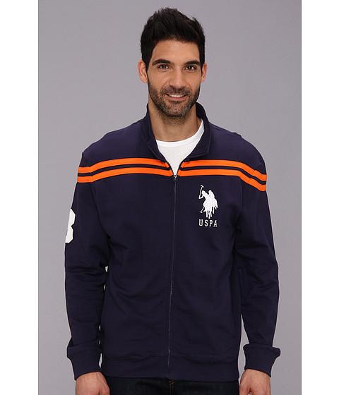 U.S. POLO ASSN. - Chest Stripe Track Jacket (Classic Navy) Men