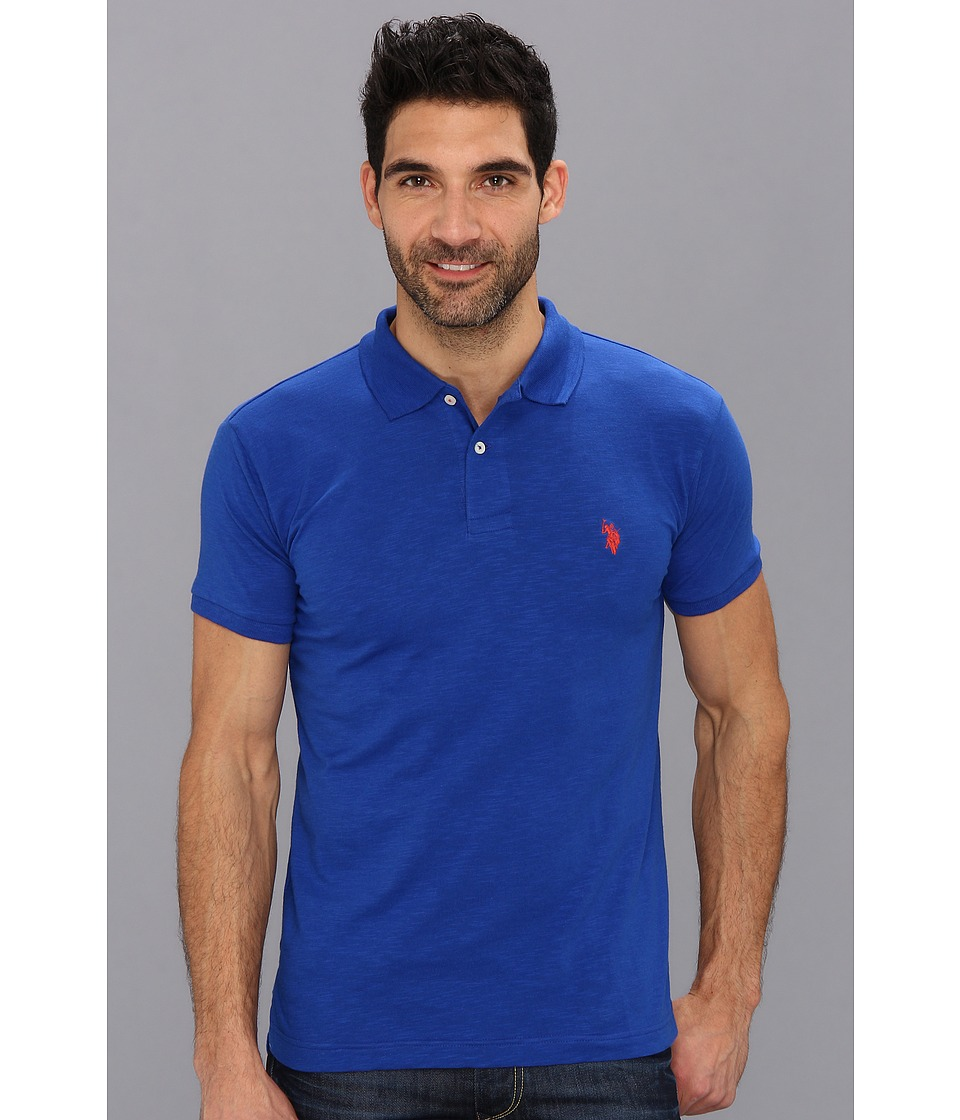 U.S. POLO ASSN. - Solid Slub Polo (Cobalt Blue) Men