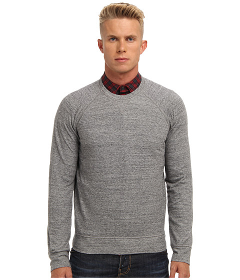 DSQUARED2 - Cotton Fleece Sweatshirt (Grey Melange) Men