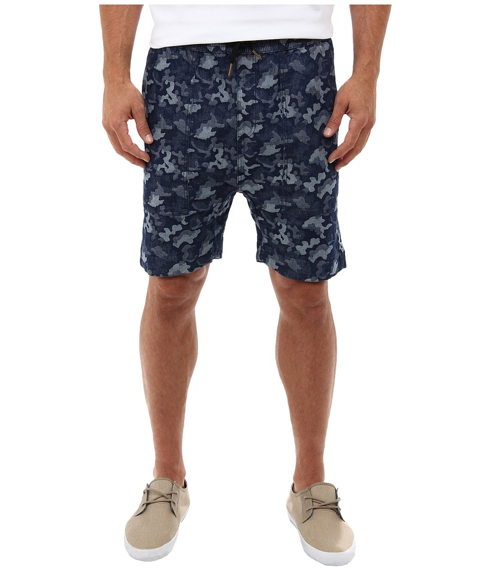 Zanerobe - Camo Denim Knit Gabe Short (Denim) Men's Shorts