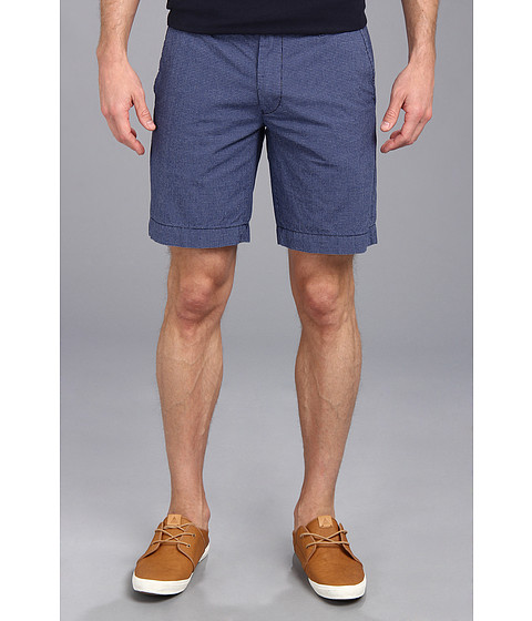 U.S. POLO ASSN. - Flat Front Mini Check Short (Cobalt Blue) Men's Shorts