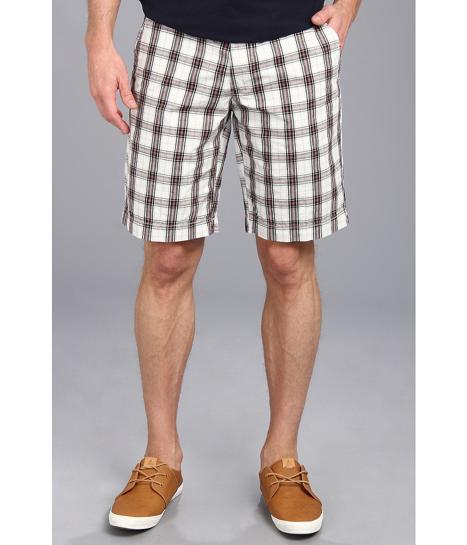 U.S. POLO ASSN. Flat Front Medium Plaid Short (Concrete) Men