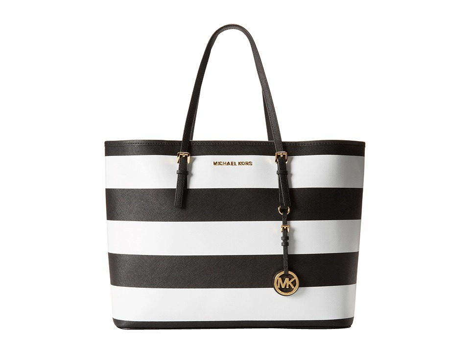 MICHAEL Michael Kors Jet Set Travel Stripe Medium Tote Handbags