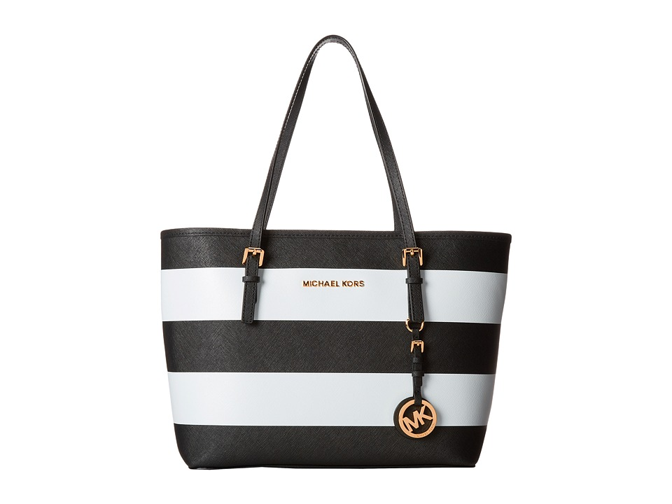 MICHAEL Michael Kors Jet Set Stripe Small Travel Tote Handbags