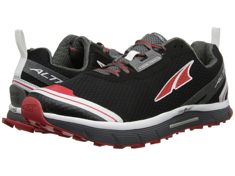 Altra Zero Drop Footwear - Lone Peak 2 (Black/Red) Men's Running Shoes
