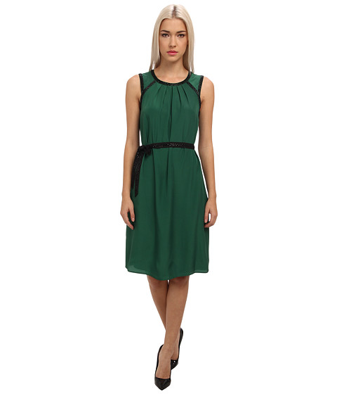 Armani Jeans - Sleeveless Crystal Embroidered Party Dress (Green) Women's Dress