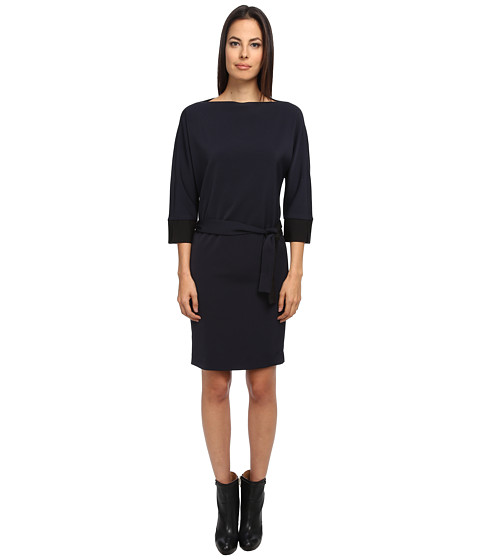 Armani Jeans - A-Line Cube Color Block Dress (Navy) Women