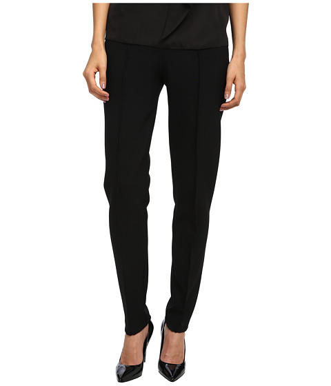 Armani Jeans - Mid Rise Skinny Ponte Pant with Ribbed Detail (Black) Women