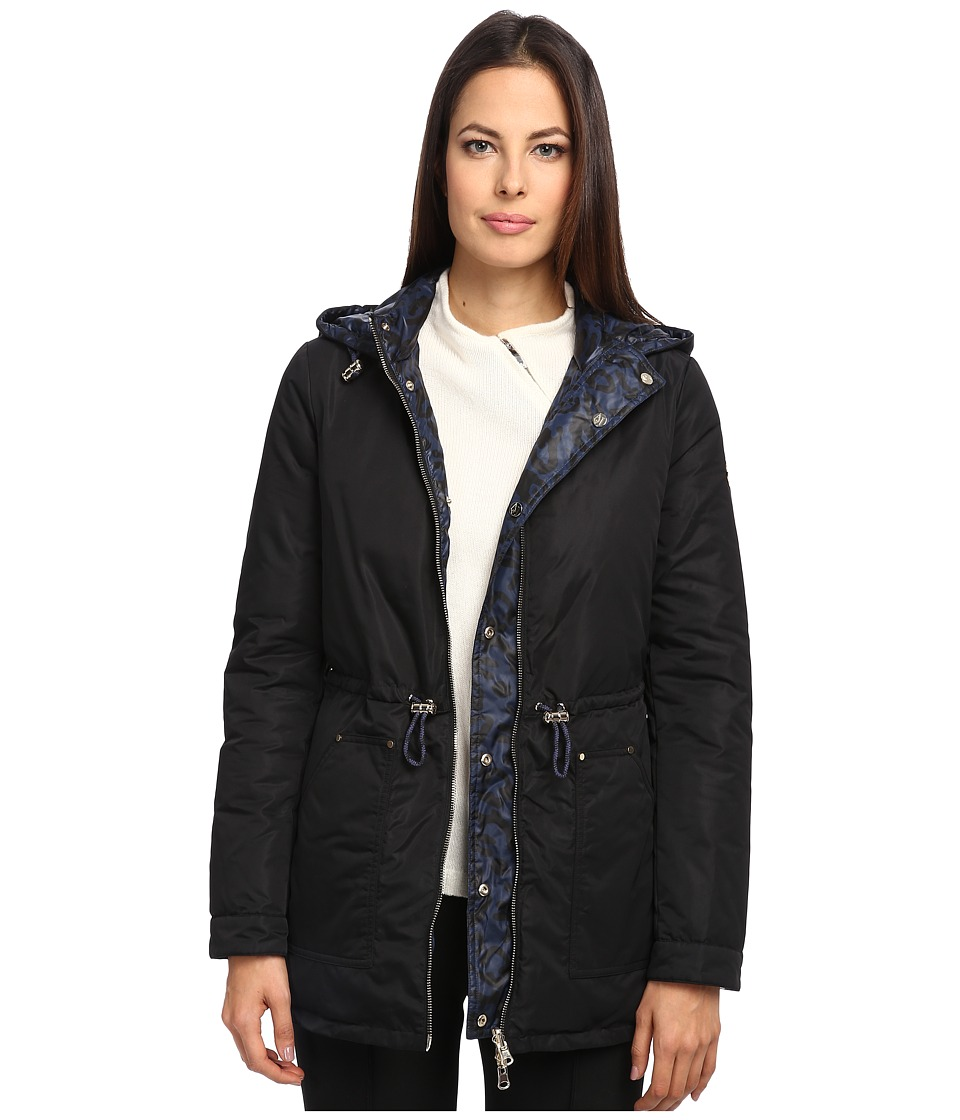 Armani Jeans - Reversible Jacket with Leopard Print (Black) Women's Coat
