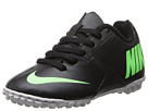 Nike Kids Bomba II Jr (Toddler/Little Kid/Big Kid) (Black/Neutrel Grey/Electric Green)