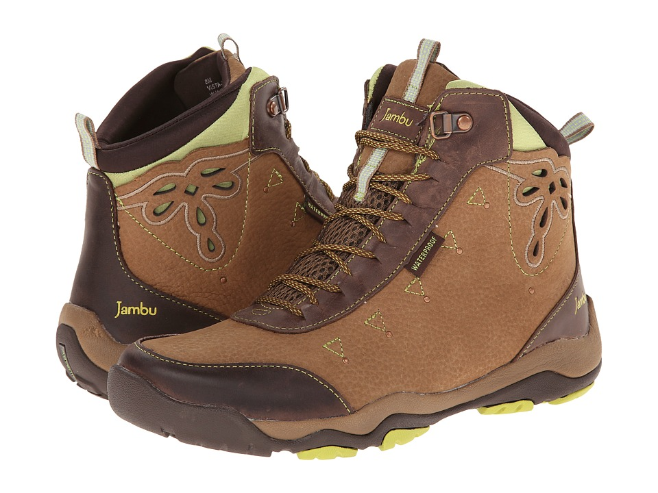 Jambu - Vista - Hyper Grip (Taupe/Brown/Kiwi) Women's Shoes