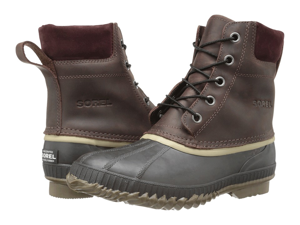 SOREL - Cheyanne Lace Full Grain (Madder Brown/Stout) Men's Cold Weather Boots