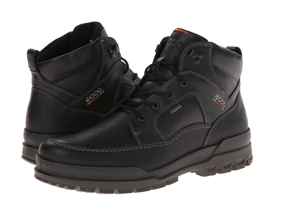 ECCO - Track 6 (Black) Men's Lace-up Boots