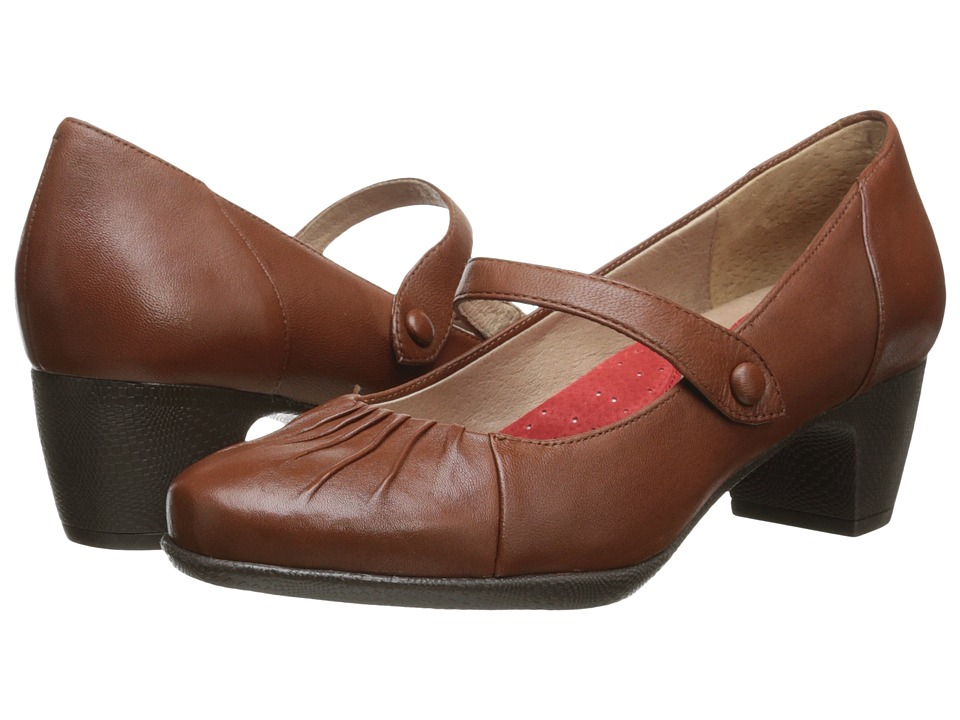 SoftWalk - Ireland (Cognac Soft Nappa Leather) Women
