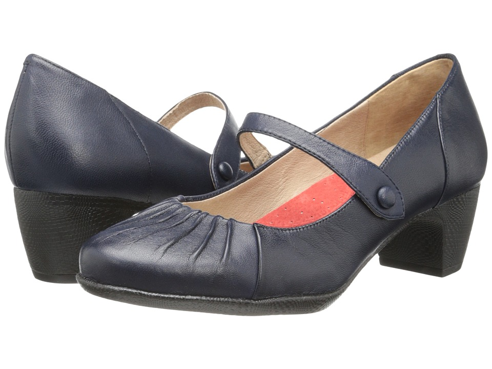 SoftWalk - Ireland (Navy Soft Nappa Leather) Women