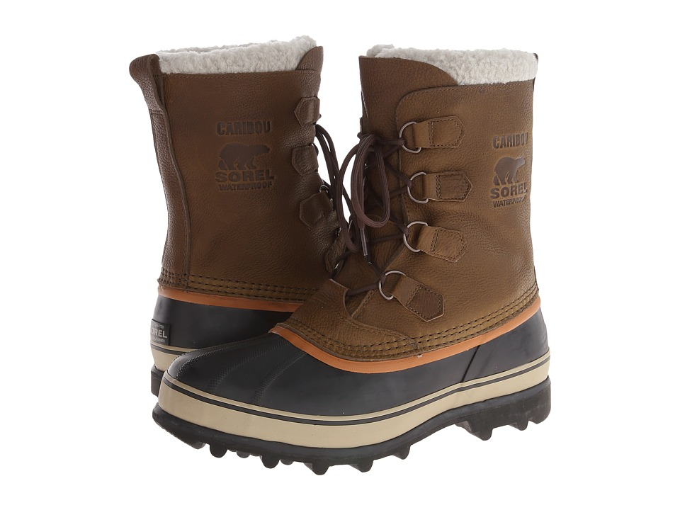 SOREL - Caribou Wool (Olive Brown/Dark Ginger) Men's Cold Weather Boots