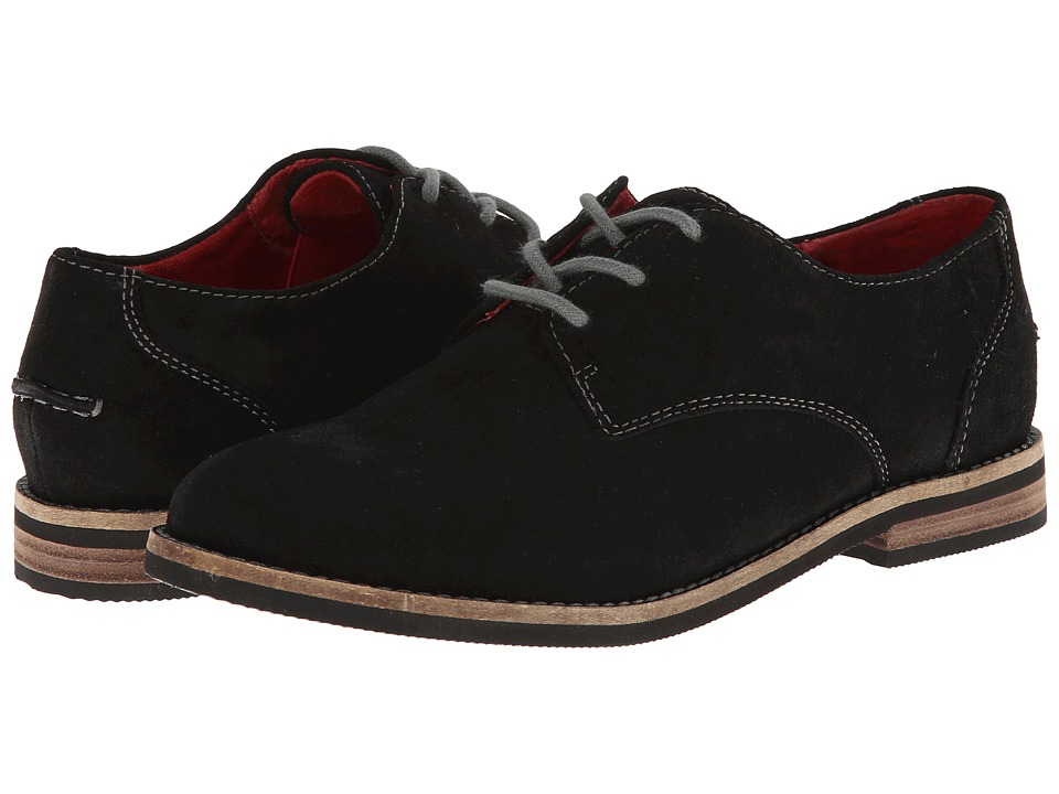 SoftWalk - Maine (Black Cow Suede Leather) Women