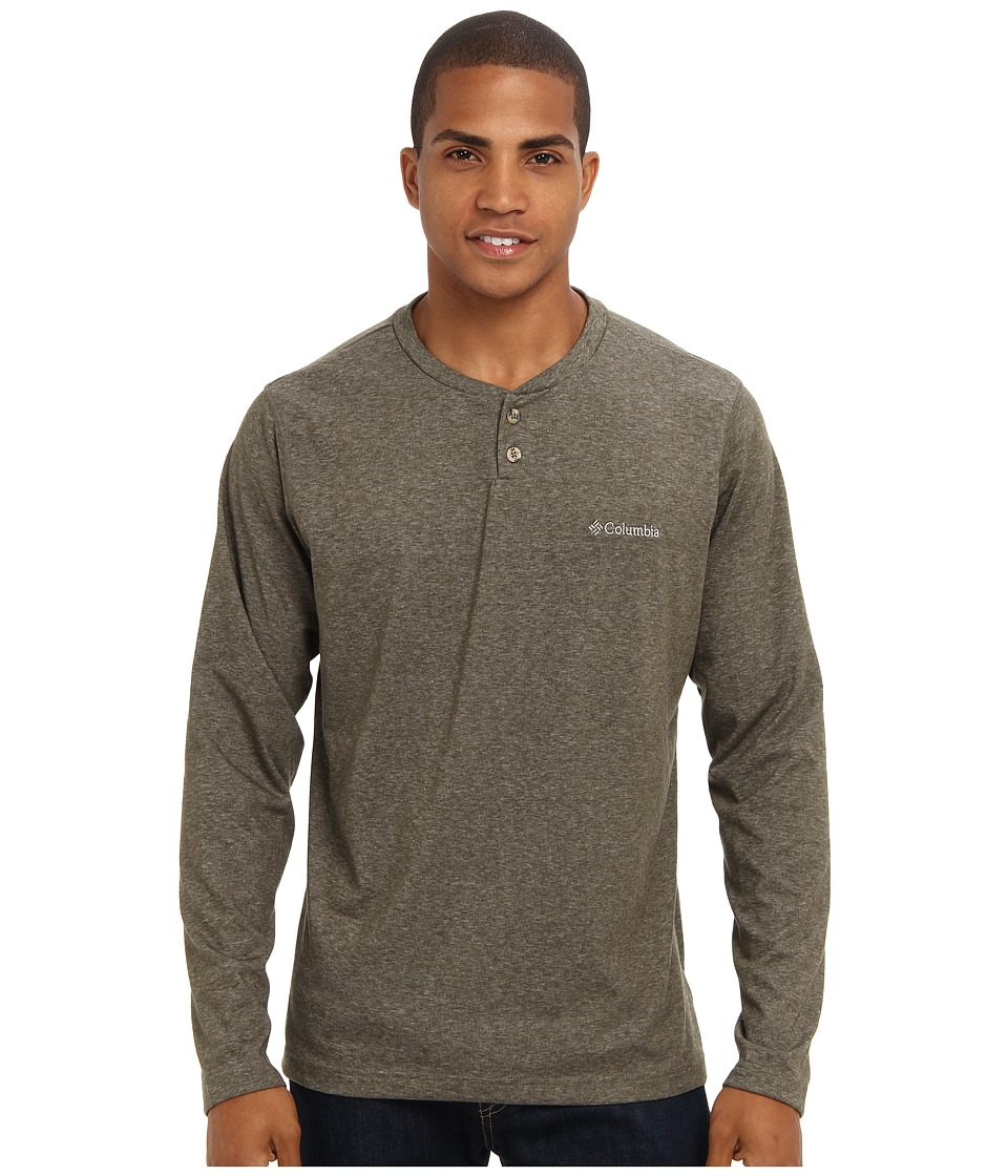 Columbia - Thistletown Park Henley (Surplus Green) Men's Long Sleeve Pullover