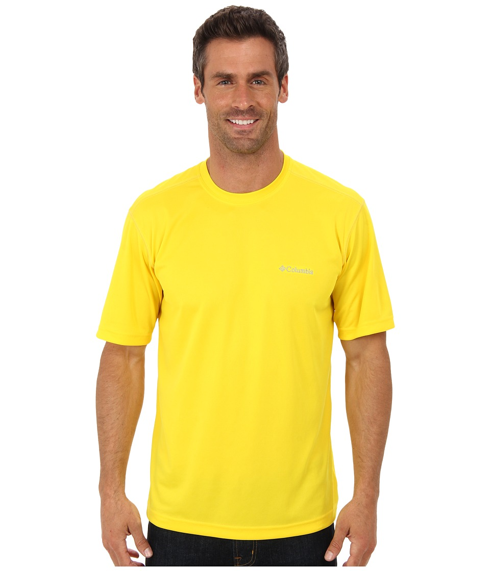 Columbia - Meeker Peak Short Sleeve Crew (Bright Yellow) Men's Short Sleeve Pullover