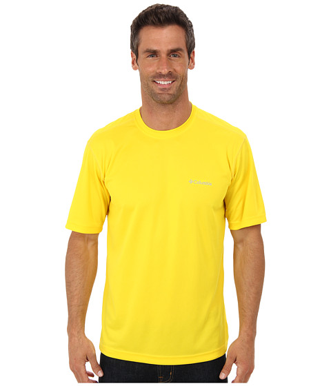 Columbia - Meeker Peak Short Sleeve Crew (Bright Yellow) Men