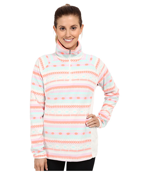 Columbia - Glacial Fleece III Print 1/2 Print (Icy Morn/Fairisle) Women