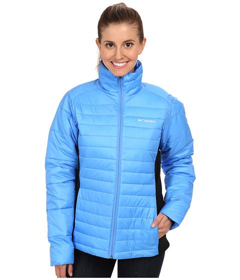 Columbia - Powder Pillow Hybrid Jacket (Harbor Blue/Black) Women's Coat