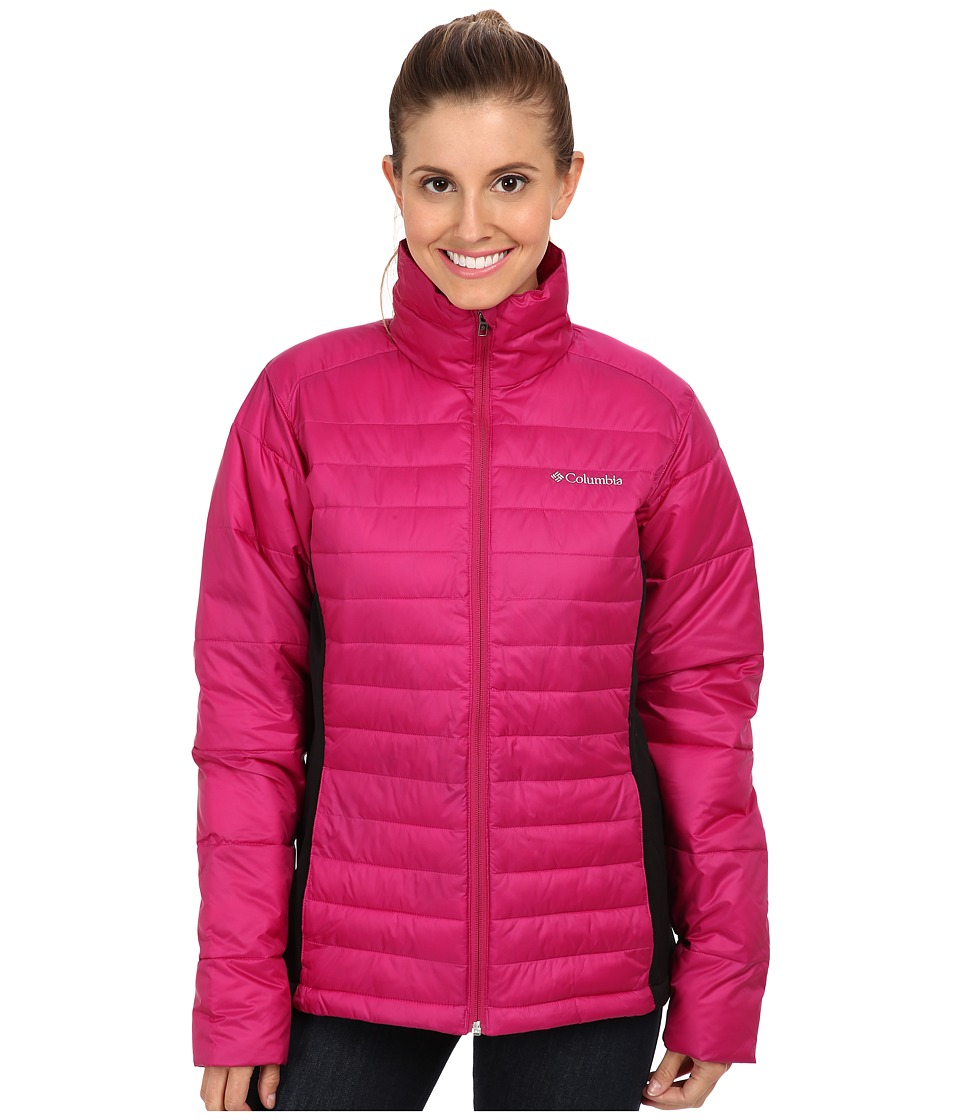 Columbia - Powder Pillowtm Hybrid Jacket (Deep Blush/Black) Women's Coat