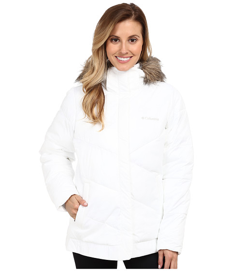 Columbia - Snow Eclipse Jacket (White) Women's Coat