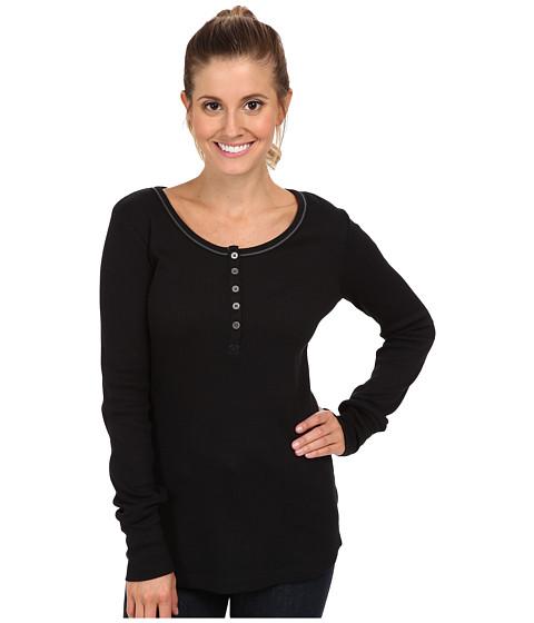 Columbia - Weekday Waffle II Henley (Black) Women's Long Sleeve Pullover
