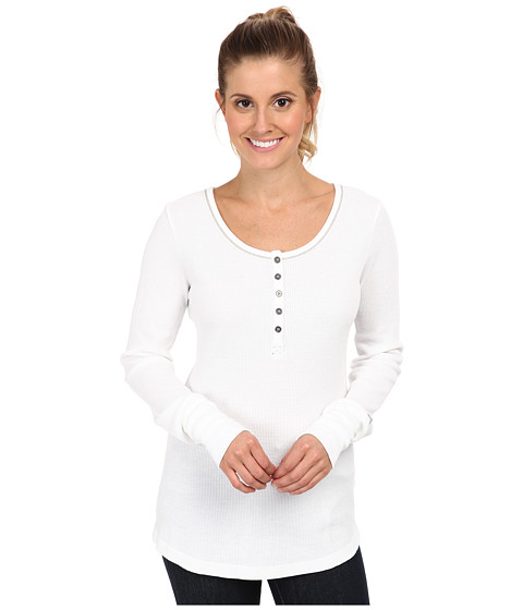 Columbia - Weekday Waffle II Henley (White) Women's Long Sleeve Pullover