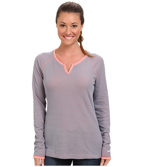 Columbia - Sweetheart Grove Long-Sleeve Shirt (Tradewinds Grey/Coral Glow) Women's Long Sleeve Pullover