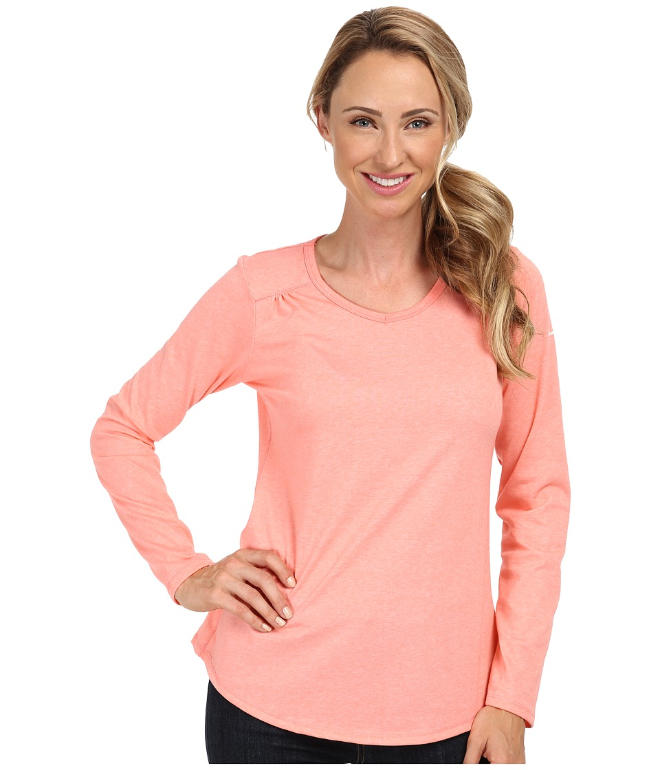 Columbia - Thistle Ridge Long Sleeve Tee (Coral Glow) Women