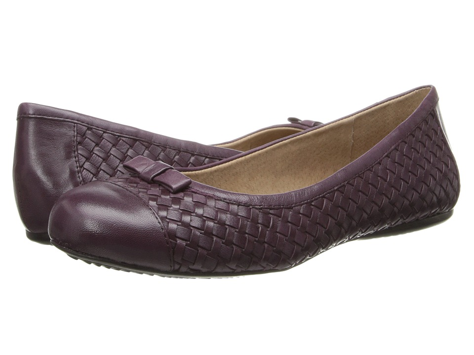 SoftWalk - Naperville (Oxblood Woven Soft Nappa Leather) Women
