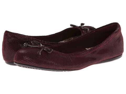 SoftWalk - Narina (Merlot Mini Dot Patent Suede) Women's Flat Shoes