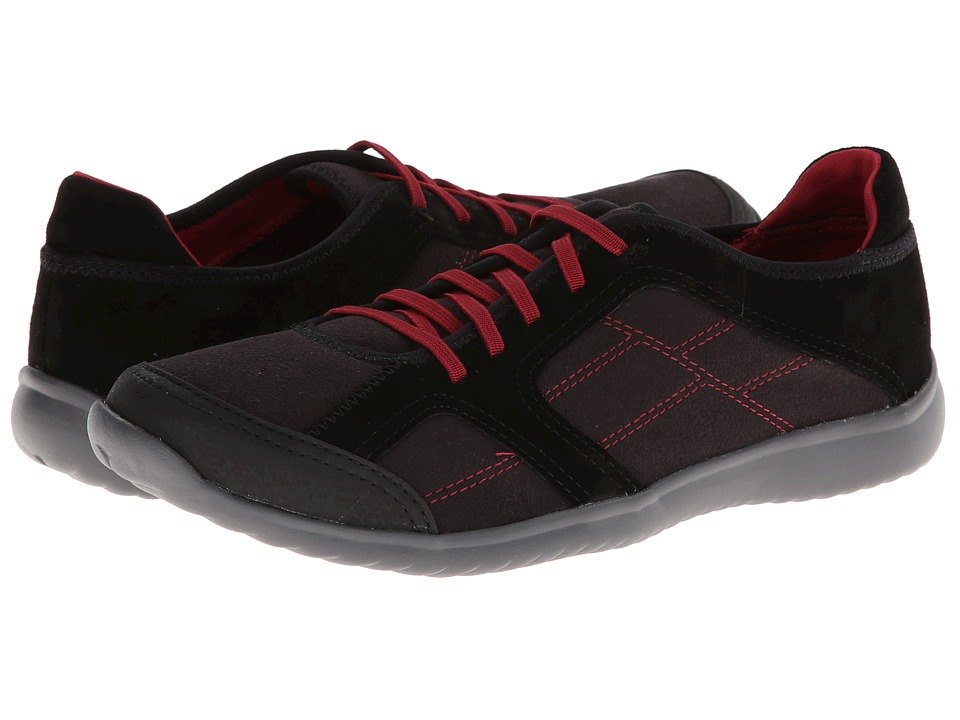 Clarks - Arbor Jade (Black/Red) Women's Shoes