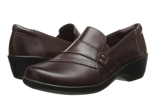 Clarks - Esha Marigold (Brown Leather) Women's Shoes