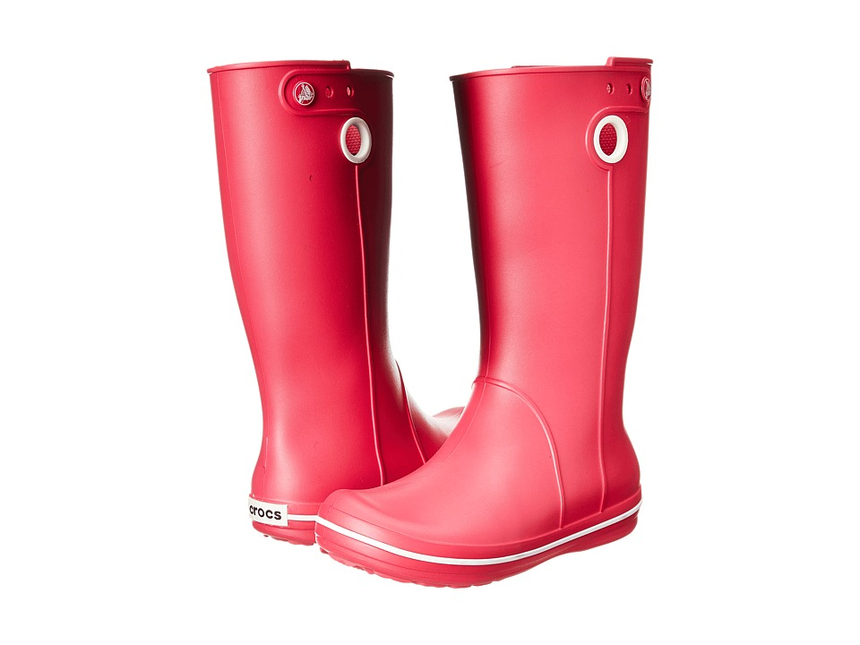 Crocs - Crocband Jaunt (Raspberry) Women's Rain Boots
