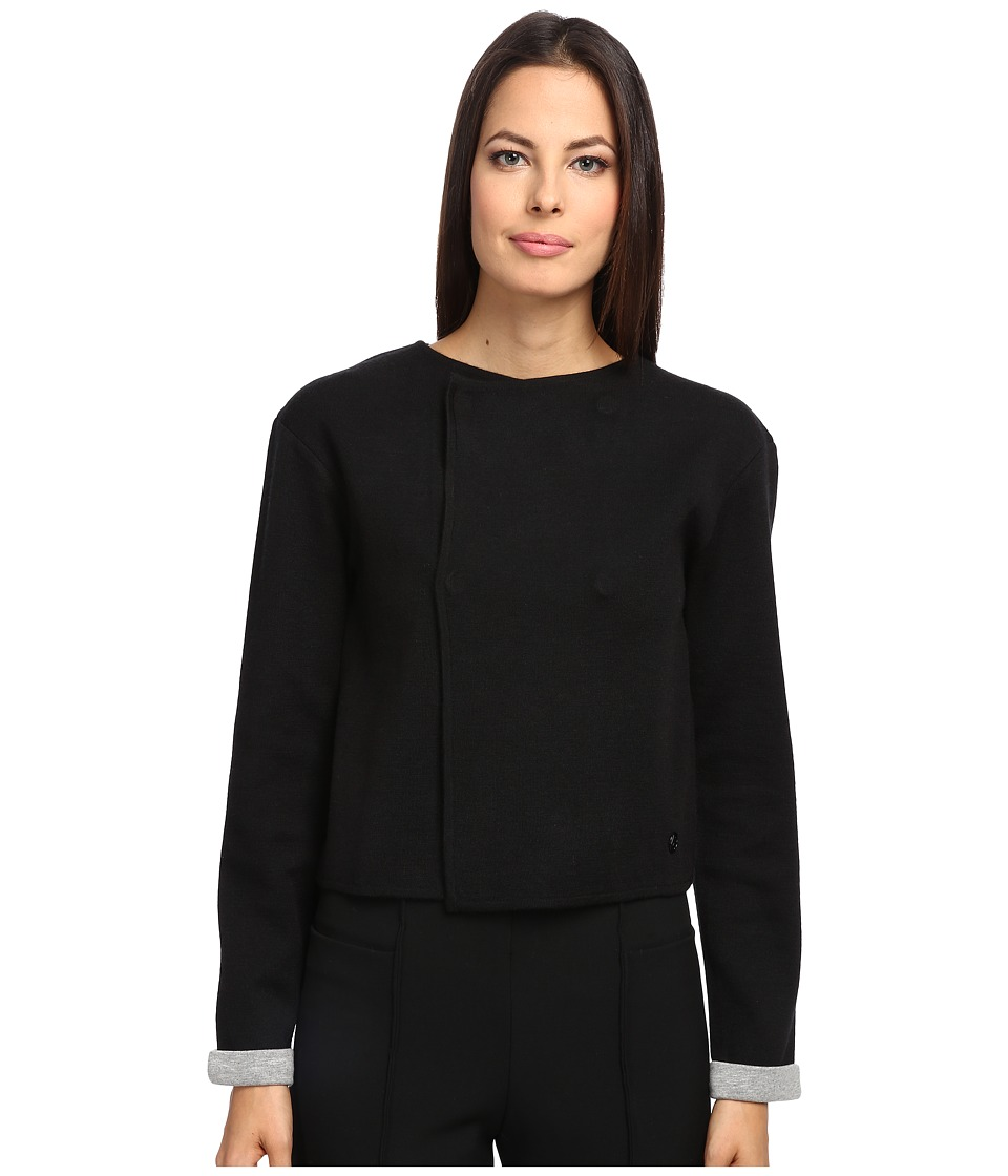 Armani Jeans - Wool Button Blazer (Black) Women's Jacket