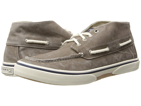Sperry Top-Sider - Halyard Chukka Canvas (Chocolate) Men
