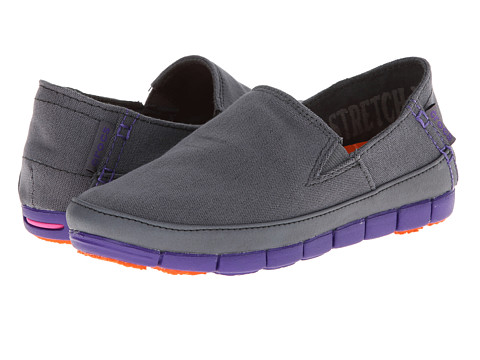 Crocs - Stretch Sole Loafer (Charcoal/Ultraviolet) Women