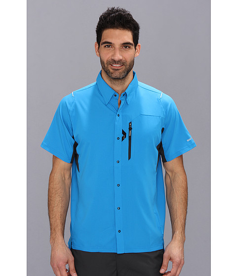 Shimano - Button Up Shirt (Lightning Blue) Men's Short Sleeve Knit